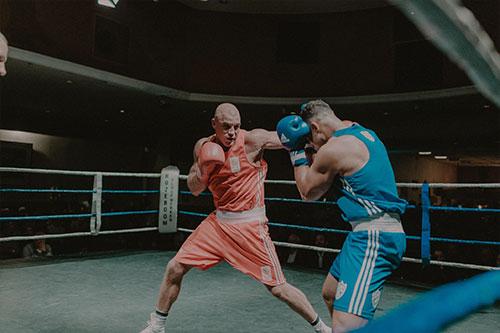 Clinic professioneel bokser Peter Mullenberg
